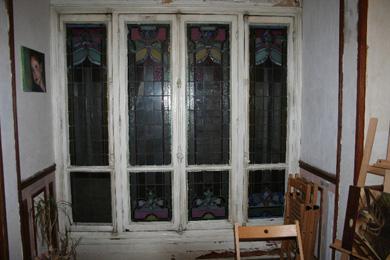 a fleur de verre transfert vitraux sur double vitrage. Black Bedroom Furniture Sets. Home Design Ideas
